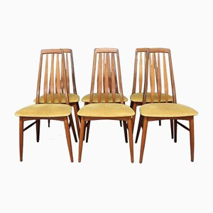 Eva Teak Dining Chairs by Niels Koefoed, 1960s, Set of 6