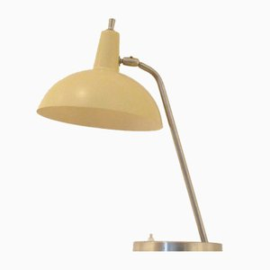 Mid-Century Dutch Yellow & Grey Desk Lamp by J.J. Hoogervorst for Anvia