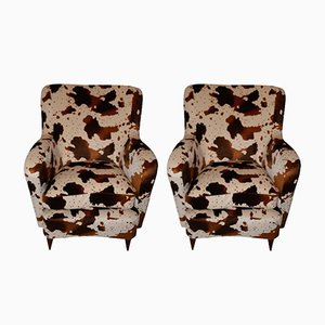 French Vintage Armchairs, 1960s, Set of 2