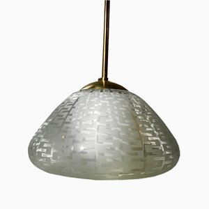 Mid-Century Munich Glass Hanging Lamp by Wilhelm Wagenfeld for Peill & Putzler