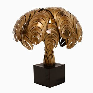 Palm Table Lamp from Maison Jansen, 1970s