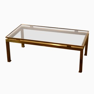 Vintage Brass Coffee Table by Guy Lefevre for Maison Jansen