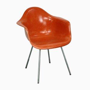 Orangenfarbener DAX Armlehnstuhl von Charles und Ray Eames für Herman Miller