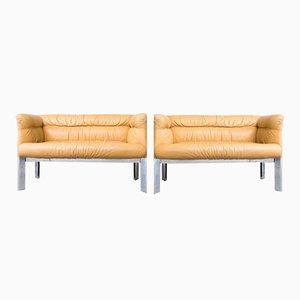 Vintage 2-Sitzer Sofa aus Leder von Marco Zanuso für Poltrona Frau, 1989