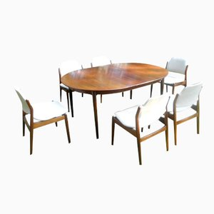 Set da pranzo in palissandro di Arne Vodder per Sibast, Danimarca, anni '60