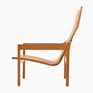 Mid-Century Danish Oak Lounge Chair, 1950s