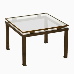 Brass and Glass Coffee Table by Guy Lefevre for Maison Jansen