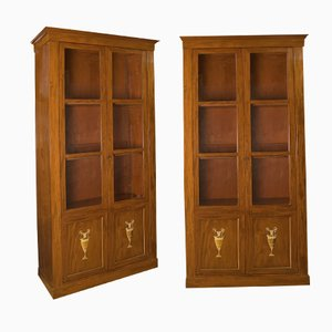 French Mahogany Bookcases, 1800s, Set of 2