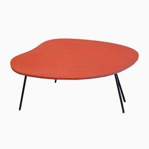 Mesa auxiliar de plástico rojo