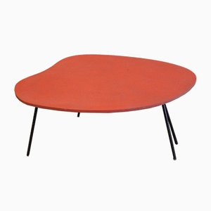 Red Plastic Side Table