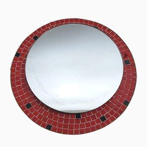Espejo mosaico alemán iluminado, años 50