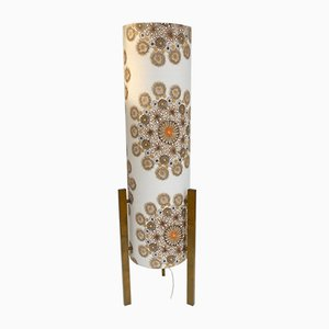 Italian Cardboard and Fabric Flower Floor Lamp by Bruno Munari, 1960s