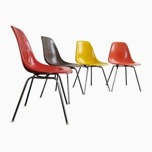 DSX Fiberglas Stühle von Charles & Ray Eames für Herman Miller/Vitra, 4er Set