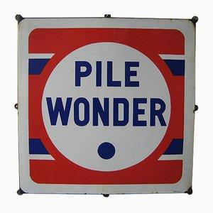 Industrielles Pile Wonder Schild