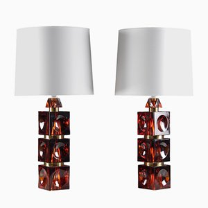 Table Lamps by Carl Fagerlund for Orrefors, 1960s, Set of 2