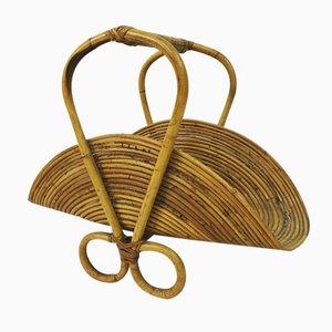 Revistero italiano de bambú, años 60
