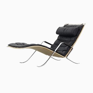 Grasshopper Chaise Lounge Chair by Fabricius Kastholm for Kill International, 1950s