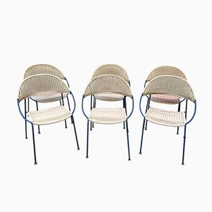 Mid-Century Garden Chairs, Set of 6