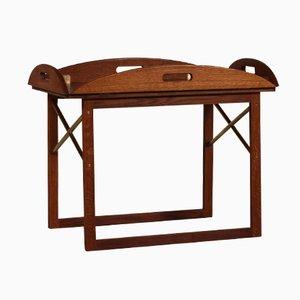 Dänischer Eichenholz Tisch mit Tablett von Svend Langkilde, 1960er