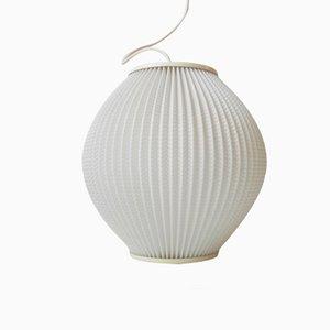 Lampe à Suspension Ruche Blanche en Acrylique par Svend Aage Holm-Sorensen, 1950s