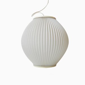 White Acrylic Beehive Pendant Lamp by Svend Aage Holm-Sorensen, 1950s