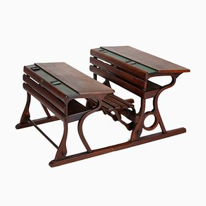 Czech Vintage School Desks from D. G. Fischel & Söhne, Set of 2