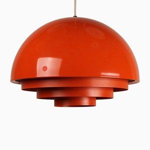 Lámpara Milieu danesa en naranja de Jo Hammerborg para Fog & Mørup, años 60