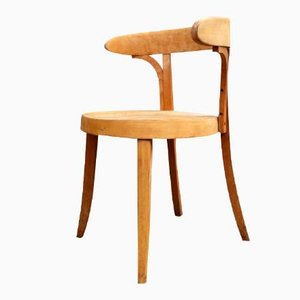 Vintage Danish Bauhaus Style Bent Beech Desk Chair by Magnus Stephensen for Fritz Hansen
