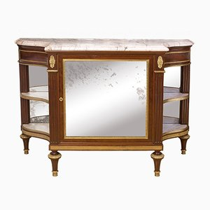Antique French Mahogany Console-Desserte