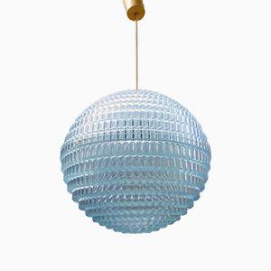 Lampada a sospensione grande sferica con bolle in plastica, anni '70