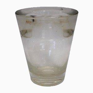 Jarrón danés de vidrio de Andries Dirk Copier, años 40