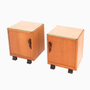 Dutch Art Deco Nightstands, 1920s, Set of 2