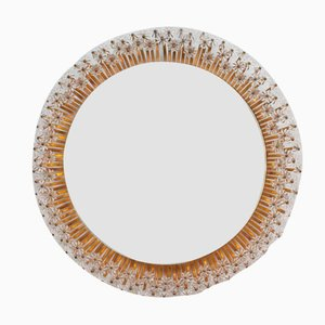 Viennese Backlit Wall Mirror with Glass Blossoms by Emil Stejnar, 1950s