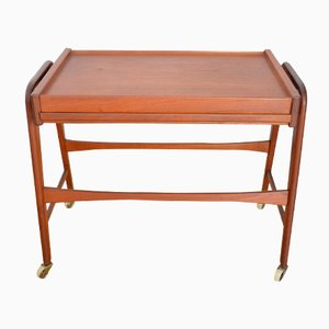Vintage Danish Teak Serving Trolley