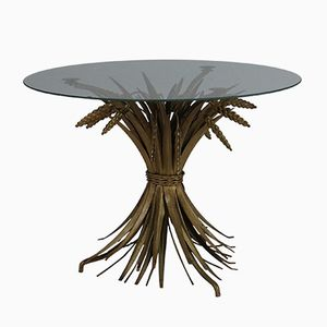 Small French Gilt Sheaf of Wheat Table, 1960s