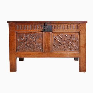 Antique Oak Blanket Box, 1680