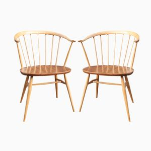 Cowhorn Chairs by Lucian Ercolani for Ercol Windsor, 1960s, Set of 2
