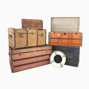 Vintage Brazilian Travel Trunks Set, 1930s