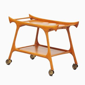 Italian Walnut Tea Trolley, 1950