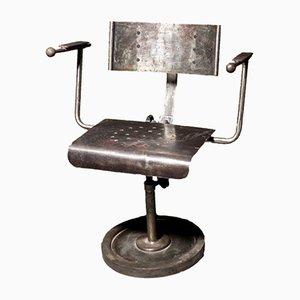 Industrieller polnischer Armlehnstuhl aus Metall, 1950er