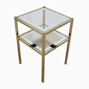 Table d'Appoint Vintage en Laiton, France, 1970s