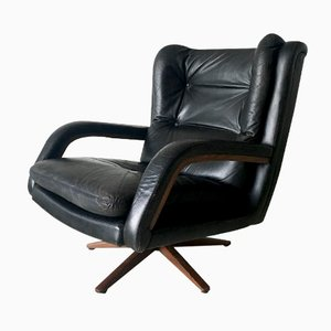 Mid-Century Vintage Leather Lounge Chair, 1960s