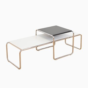 Vintage American Laccio Nesting Tables by Marcel Breuer for Knoll