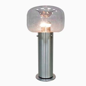 Lámpara de pie alemana de Glashütte Limburg, años 70