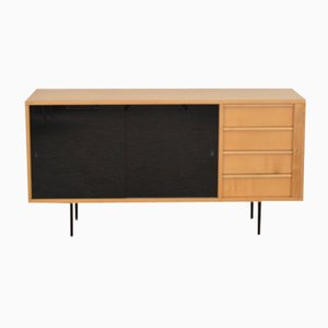 Birch Sideboard with Glass Doors, 1960s