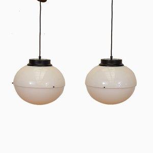 Lámparas de techo modelo 4022 italianas de Luigi Bandini Buti para Kartell, años 60. Juego de 2