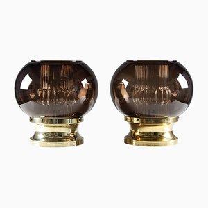 Schwedische Tischlampen von Carl Fagerlund für Orrefors, 1960er, 2er Set