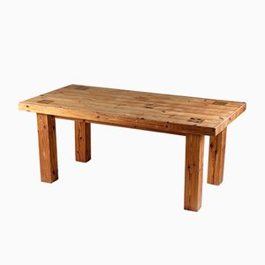 Swedish Pine Barn Table, 1976