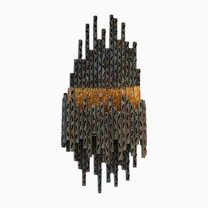 Lámpara de pared escultural brutalista de Marcello Fantoni