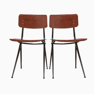 Dutch Compass Leg Chairs from Marko, 1960s, Set of 2